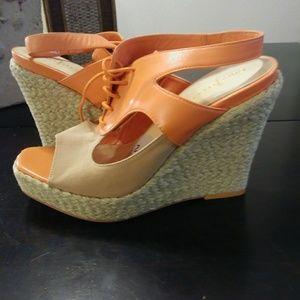 New Cole Haan wedge sandals